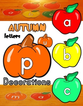 Fall Apple / Pumpkin Letters / Classroom Decorations