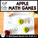 Fall Apple Roll and Color Math Activities