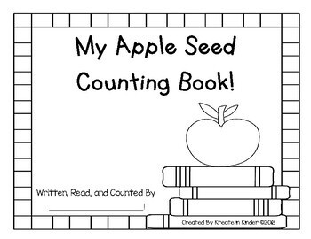 Fall Math Johnny Appleseed Counting and Number Words Book