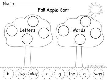 Fall Apple Sort