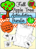 NO PREP Articulation Bundle - Fall Apple Picking Activity!