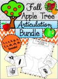 NO PREP Articulation Bundle - Fall Apple Picking Activity!