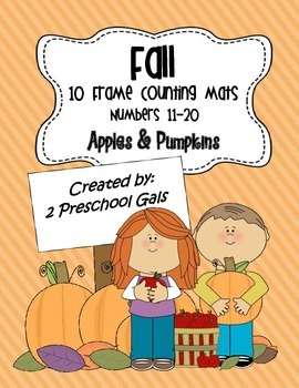 Fall Apple and Pumpkin 10 Frame Counting Mats (11-20)