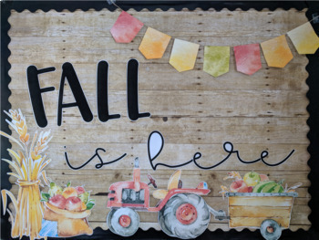 Fall Apples Back to School Bulletin Board Kit or Door Decor
