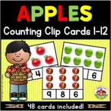Fall Apples Counting Clip Cards 1-12