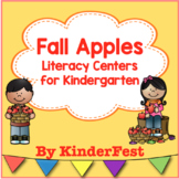 Fall Apples Literacy Centers for Kindergarten