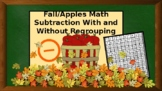 Fall/ Apples Math- Subtraction With/Without Regrouping - Flash Cards