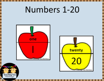 Fall Apples Number Word Matching