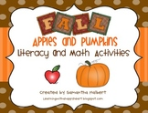 Fall, Apples and Pumpkins Literacy and Math Activities