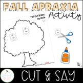 Fall Apraxia Cut and Say