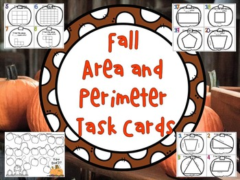 Fall Area and Perimeter Task Cards