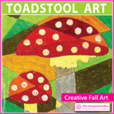 Fall Art Project | Toadstool Coloring and Collage Fun