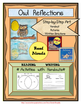 Language Arts with Art Project - How to Draw & Color Owl Reflections