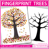 Fall Art Project | Paint Fingerprint Trees