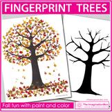 Fall Art Project | Paint Fingerprint Trees