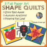 Fall Art: Red Apple, Autumn Arachnid Spider, Fall Leaf