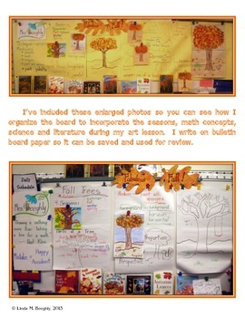 Language Arts Poetry & Math Graphing with Fall Art - Draw & Sponge Paint Trees