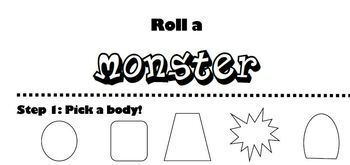 Fall Art Sub Plans - Leaves and Roll a Monster