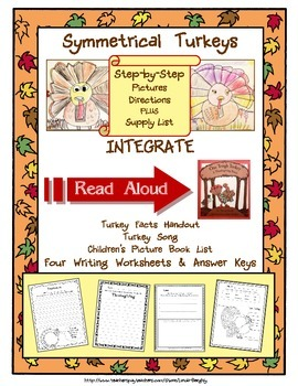 Language Arts Expository Writing with Art - How to Draw a Symmetrical Turkey