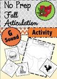 Fall Articulation Activity - G Sound!
