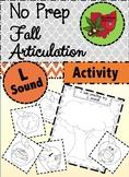 Fall Articulation Activity - L Sound!