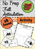 Fall Articulation Activity - Sh Sound!