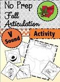 Fall Articulation Activity - V Sound!