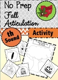 Fall Articulation Activity - th Sound!