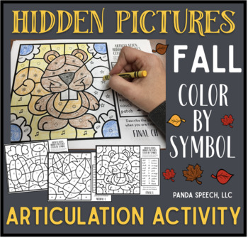 Fall Articulation Color by Symbol Hidden Images A Speech Therapy Activity