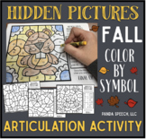Fall Articulation Color by Symbol Hidden Images A Speech T