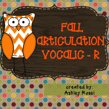 Articulation For Vocalic R