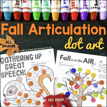 Fall Dot Art {NO prep!}