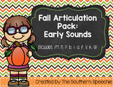 Fall Articulation {Early Sounds}