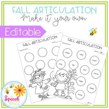 Fall Articulation - Editable