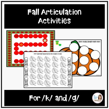 Fall Articulation Games and Activities for /k/ and /g/
