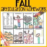 Fall Articulation Homework