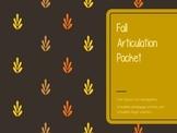 Fall Articulation Packet