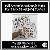 Fall Articulation Dough Mats for Early Developing Sounds