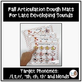 Fall Articulation Dough Mats for Late Developing Sounds