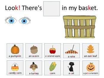 /k/ and /g/ Fall Artic/Language Sentences & Activities for Speech Therapy