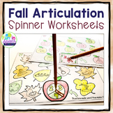 Fall Articulation Activities for Speech Therapy