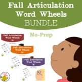 Fall Articulation Word Wheels L, R, and S Sounds:  BUNDLE.