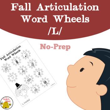 Fall Articulation Word Wheels: L Sound {No-Prep}