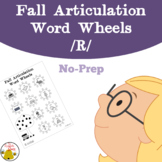 Fall Articulation Word Wheels: R Sound {No-Prep}