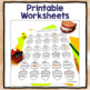Fall Articulation Worksheets for Every Sound & Loaded with Fall Themed Words