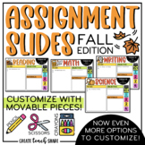 Fall Assignment Slides