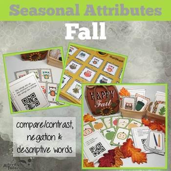 Fall Attributes Game: Compare/Contrast (includes a Cariboo