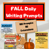 Fall (Aug.Sept.Oct.) Writing Prompts + DAILY Photos + Exte