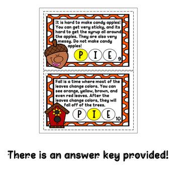 Fall Author's Purpose Task Cards {Using Bingo Daubers}