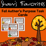 Fall Author's Purpose Task Cards {Using Bingo Daubers}